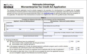 nebraska microenterprise tax credit Kirk Hicks CPA save on taxes